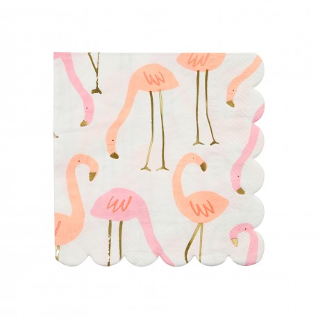 Petites serviettes flamants roses x16