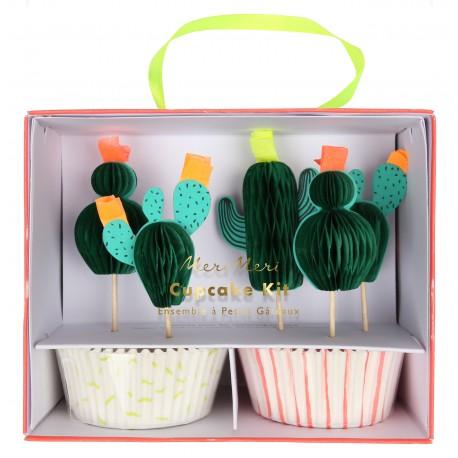 Kit cupcake cactus