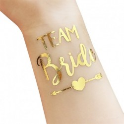 Tatouage temporaire TEAM BRIDE - or