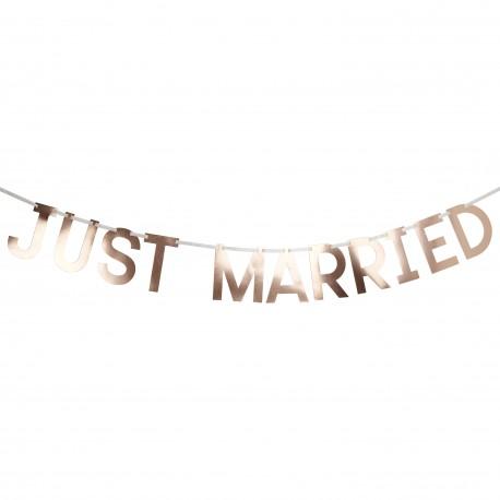 """Guirlande 'JUST MARRIED"""" rose gold"""