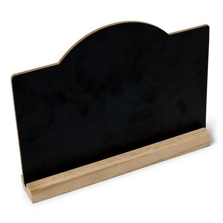 Ardoise sur socle en bois 15cm