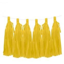 6 Tassels jaune
