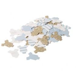 100 Confettis bodys bleu