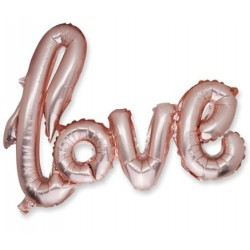 "Ballon metal ""LOVE"" rose gold"