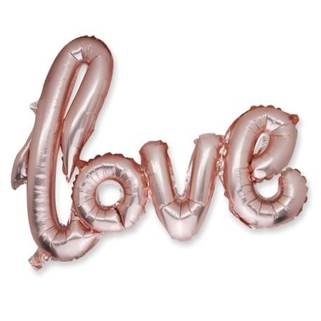 "Ballon metal ""LOVE"" rose gold"