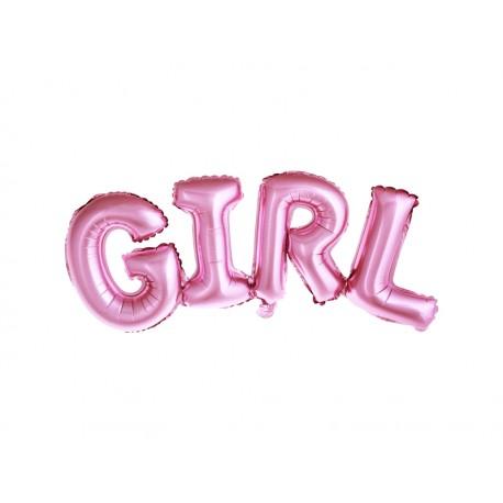 Ballon mylar GIRL rose