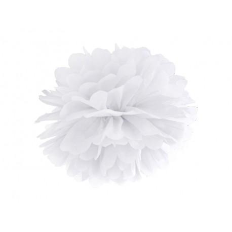 Pompon blanc - 35cm