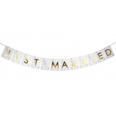 "Guirlande ""JUST MARRIED"" effet marbre / petite taille"