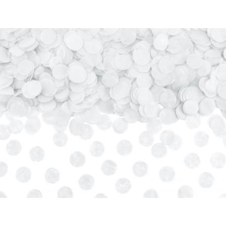 Confettis papier de soie blanc 15g
