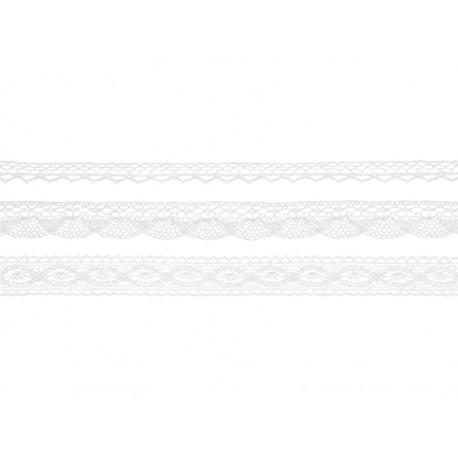 3 Rubans de dentelle blanche
