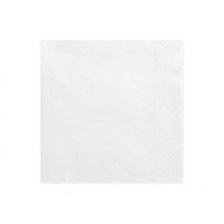 20 Serviettes blanches -