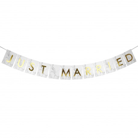 "Guirlande ""JUST MARRIED"" effet marbre / grande taille"