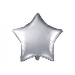 Ballon étoile argent - 48cm