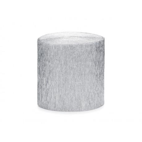 4 Rouleaux papier crépon - argent 10m