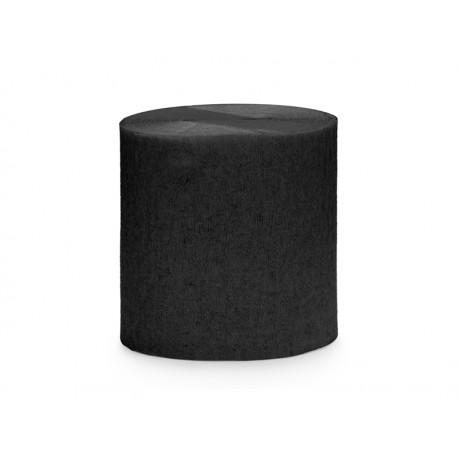 4 Rouleaux papier crépon noir - 10m