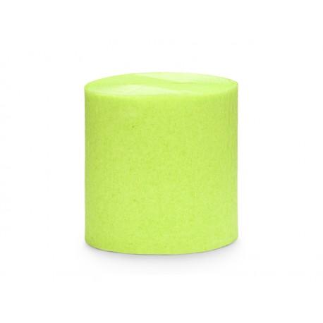 4 Rouleaux papier crépon vert - 10m