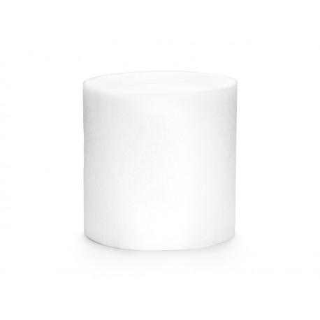 4 Rouleaux papier crépon blanc- 10m