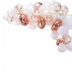Guirlande de ballons roses gold - 70 ballons