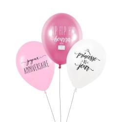 """Lot de 3 ballons """"princesse du jour"""""""