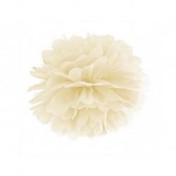 Pompon ivoire - 35cm