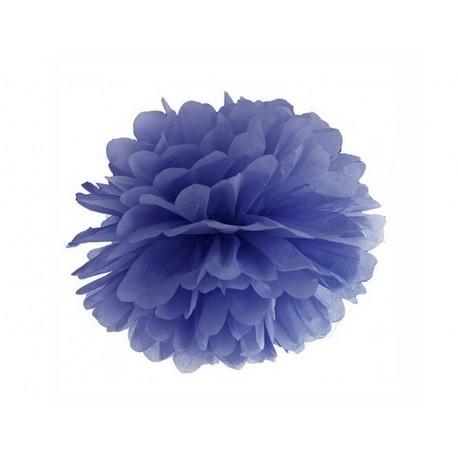 Pompon bleu nuit - 35cm